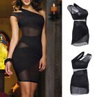 Sexy Women Mesh Sleeveless Bandage Bodycon Dress Clubwear Party Skirt