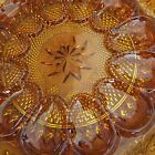 INDIANA Glass TIARA Exclusive Amber Deviled Egg / Sandwich Relish Plate