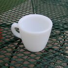 Fire-King Oven Ware White Milk Glass Restaurant C Handle Mug Cup Heavy 6 oz