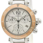 Polished CARTIER Pasha Seatimer Pink Gold Steel Unisex Watch W3140004 BF336565