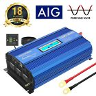 Pure Sine Wave Inverter 1500W 12V to 110V 120V with Remote Controller 45M Cable