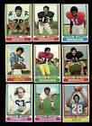 1974 TOPPS FOOTBALL PARTIAL SET OF 265 DIFFERENT NMMT *192335