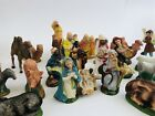 26 Vintage Italy Nativity Set Scene Hand Painted Paper mache Figurines