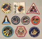 NASA PATCHES LOT of 10 Space Program  Shuttle STS Mission Skylab Spacelab ++++