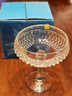 Indiana Glass Diamond Point Clear Tall Compote #0103 Bowl Candy Dish in Box