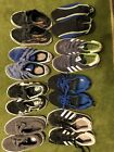 Lot Of 8 Pairs Of Kids Shoes Adidas Vans Us Polo Water Shoes Play AS IS Size 13