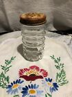 Vintage Anchor Hocking Clear Ribbed Tulip Fire King Pepper Shaker