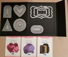 Quickutz Revolution Nesting Die Lot Magnetic Storage Book Labels Hearts Tags ++
