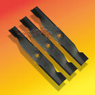 Set of 3 High Lift Blades For AYP Sears 48 Cut Mower US Made Fits Many Others