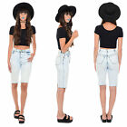 Vintage 80s 90s ACID WASH Denim High Waist Cutoff Shorts Skinny Grunge Mom Jeans