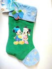 Disney Holiday MICKEY+MINNIE MOUSE Christmas STOCKING Blue Green Mittens Kmart