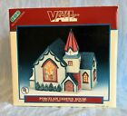 LEMAX DICKENSVALE VAIL VILLAGE PORCELAIN LIGHTED CHURCH - STAINED GLASS WINDOW
