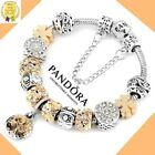 Authentic Pandora Bracelet Silver Gold Tree of Life with European Charms New