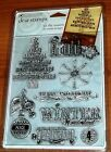CLEAR ACRYLIC AUTUMN LEAVES STAMPS TIS THE SEASON OrnamentsTree wks CTMH blk