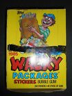 1985 WACKY PACKAGES STICKERS FULL WAX BOX (48 PACKS) TOPPS