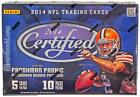 2014 PANINI CERTIFIED FOOTBALL HOBBY BOX - 4 HITS PER BOX