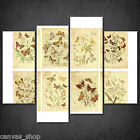 VINTAGE BUTTERFLY TAGS GRUNGE CASCADE CANVAS PRINT ART PICTURE READY TO HANG