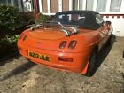 Fiat barchetta 2 seater roadster convertible orange colour low mileage 39k