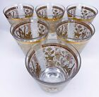 Colony Americana Gold Frost 6 Old Fashioned Glasses Cocktail Mid Century Barware