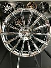 22 Chrome Turbine AMG Style Rims Stag Wheels Fits Mercedes Benz S400 S500 S550