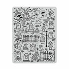 Hero Arts HALLOWEEN SCENE Background Cling Rubber Stamp 2019