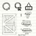 Barn Door Clear Stamp Set Scrapbooking Crafts Stamping Cardmaking Farmhouse