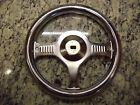 NEW CHROME PEDAL CAR FIRETRUCK STEERING WHEEL VINTAGE Murray Instep