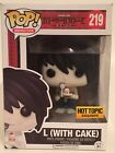 Funko Pop Death Note #219 L (With Cake) Hot Topic Exclusive Vinyl Figure NEW