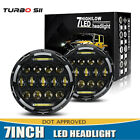 75W 7 inch Round LED Headlight DRL Hi Lo Beam Projector For Dodge Ram 1500 LXL
