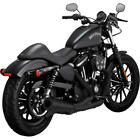 Vance  Hines 2 into 1 Upswept Full Exhaust System Black 47624 Harley Davidson