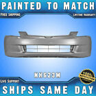 NEW Painted NH623M Satin Silver Front Bumper Cover for 2003 2005 Honda Accord