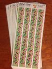 10 Suzys Zoo Scrapbooking Border Stickers flowers and strawberries