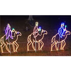 Nativity Scene 3 Wise Men on Camels LED Outdoor Lighted Yard Art Decoration NEW