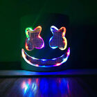 Halloween DJ-Marshmello Helmet LED Handmade Full Head Mello Mask for Kids Party