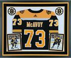 Charlie McAvoy Boston Bruins Deluxe Framed Signed Black Adidas Authentic Jer