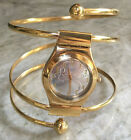 NEW Swatch Irony OCTOPUSSY 007 Gold Watch Women's Spiral & Leather Bands