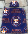 NEW Houston Astros MLB Fleece Newborn Infant Baby Receiving Blanket Hat Gift Set