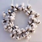Wreaths Real Cotton Wreath Farmhouse Decor Christmas Vintage Wreath Home 14in