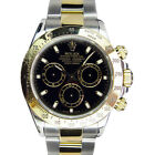 ROLEX - Mens 18kt Gold & Stainless Steel DAYTONA Black Index 116523 - SANT BLANC