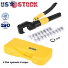 16 Ton Hydraulic Wire Battery Cable Lug Terminal Crimper Crimping Tool 9 Dies