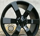 Set 4 22x9 Chevy Trailblazer SS Replica Wheels Gloss Black Rims 6x1397