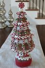 NEW RAZ Imports 155 GINGERBREAD MAN  PEPPERMINT CANDY CANE TREE Christmas