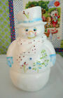 FENTON ART GLASS SNOWMAN FAIRY LIGHT ORIGINAL BOX WITH LABEL D ROBINSON ARTIST