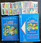 Mitici SGORBIONS Full 128 Card Set With Empty Box & Full Pack Garbage Pail Kids
