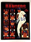 Nolan Ryan Signed 1991 Texas Rangers Yearbook MLB Baseball Strikeout King Vtg