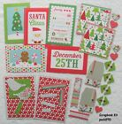 Christmas Scrapbooking Kit Paper Crafts Premade Pieces Photo Mats pack890