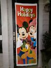 New Mickey And Friends Happy Holidays Over The Door Cover Flag Large