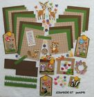Scrapbooking Kit Forest Animals Paper Craft 18 Photo Mats Premade Pieces pack890