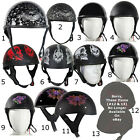 Low Profile DOT Approved Motorcycle Half Helmets Various Designs Graphics