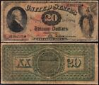 Awesome ULTRA RARE 1869 20 RAINBOW Legal Tender Note FREE SHIPPING 94123